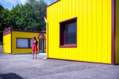 Performance by ... Soraya (johann walter bantz) Tags: soraya bantz building container color performance cenceptual nikon d4s 35mm yellow