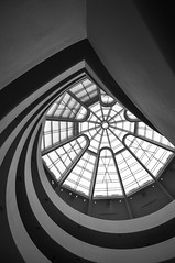 inside the Guggenheim (marin.tomic) Tags: nyc ny usa newyorkcity newyork city urban architecture guggenheimmuseum franklloydwright blackandwhite bw monochrome travel america nikon d90 manhattan