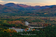 Sunrise From Atop Cathedral Ledge (KAM918) Tags: cathedral ledge intervale nh new hampshire sunrise sky weather clouds mountains foliage autumn fall village nikon d610