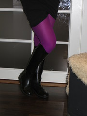 Wife wearing riding boots (jazka74) Tags: wellies rubber riding boots le chameau