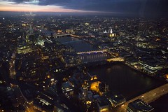 View from The Shard at Dusk (Bill in DC) Tags: uk unitedkingdom london theshard st pauls 2013