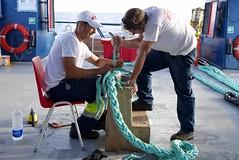 Teamwork (bukovo) Tags: dignityi work trabajo equipo men sailor marinero deck cubierta estacha cabo rope msf