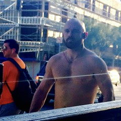 IMG_0910 (danimaniacs) Tags: sexy hot guy man shirtless hunk muscle muscular westhollywood beard scruff bald