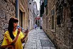 Pedestrian street at the old town in Split (Croatia) (Abariltur) Tags: abariltur castelln spain nikond90 afsdxnikkor1024mmf3545ged split thesplitcitymuseum muzejgradasplita theromanempire romanpalaceoftheemperordiocletian diocletianspalace theregionofdalmatia adriaticsea croatia