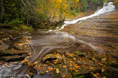 The Reveal... Laughing Whitefish Falls (maureen.elliott) Tags: waterfall waterflow nature fall autumn leaves michigan upperpeninsulaofmichigan outdoors water