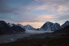 Dusk in the Khumbu valley (D A Scott) Tags: nepal asia himalayas everest base camp trek gokyo lakes