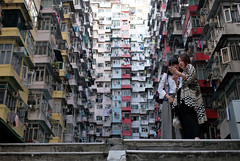 """""""attraction for tourists"""" (hugo poon - one day in my life) Tags: xt2 23mmf2 hongkong quarrybay yickfatbuilding yickcheongbuilding tourist selfie concretejungle buildingcomplex architecture 70s girls companions"""