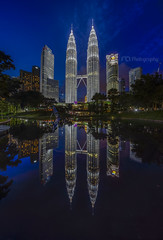 Vertical Panorama : Pertonas Twin Tower During Blue Hour (Mohamad Zaidi Photography) Tags: kualalumpur kualalumpurcitycenter reflection vertical verticalpanorama vertorama pond twin petronastwintower malaysia malaysianphotographer visitmalaysia mohamadzaidiphotography mohamadzaididotcom sonya7r sony sonymalaysia sonyjapan kfgm klccpark