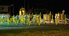 Lanes at US Customs(Alex Bay) (cjh44) Tags: nightshot uscustoms ivylea alexandriabay wellesleyisland carlanes posts homelandsecurity