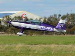 G-OLAD Extra EA.300/L (SteveDHall) Tags: aircraft airport aviation airfield aerodrome aeroplane airplane generalaviation ga lightaircraft blackpool blackpoolairport 2016 golad extra ea300l extraea300l
