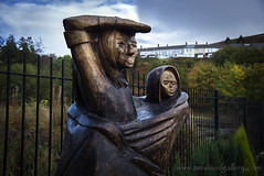 WAITING FOR NEWS...SENGHENYDD MINING DISASTER MEMORIAL, SOUTH WALES. (IMAGES OF WALES.... (TIMWOOD)) Tags: senghenydd colliery disaster memorial waitinfornews statue sisters baby wooden tragedy biggestminingdisasterinbritain 460 lives lost deaths explosion caerphilly welsh wales south