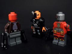Mercs in Masks (MrKjito) Tags: lego minifig red hood deathstorke deadshot dc comic comics super hero villain anti masks mercenary