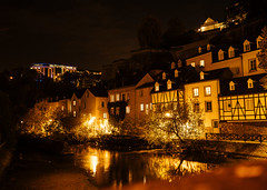 """Day 22/365_Luxembourg (Frdric Cottens - Photographie """"brute"""") Tags: luxembourg grund night city altstadt penf day22 365 color shadows light reflections vieilleville"""