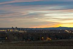Mile High sunset (fotoshane) Tags: city sunset mountain mountains skyline landscape high cityscape denver rockymountains mile milehigh 303 5280 milehighcity fotoshane