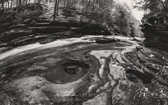 Potholes along the Creek, 2014.12.15 (Aaron Glenn Campbell) Tags: nature sepia outdoors pennsylvania sony tint fisheye slowshutter manualfocus nepa wyomingcounty toning endlessmountains bardwell clintontownship dfine colorefexpro rokinon tunkhannockcreek viveza a6000 8mmf28 littlerockyglen lithiavalleyroad nikcollection sonyalpha6000 ilce6000