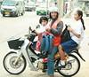 taking kids to school