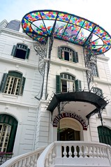 Buffet Restaurant (jo.schz) Tags: color art glass architecture vietnam buffet nouveau hanoi restraurant