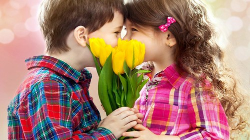 Cute Kids Girl And Boy Kissing Hd Wallpaper Stylish Hd Wallpapers
