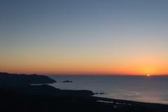 Pacifica 2015 (zh3nya) Tags: ocean blue sunset sky orange sun water point outdoors view horizon kitlens pacificocean vista pacifica mori goldenhour newyearsday milagraridge 1855mmf3556 sanpedrorock d3100 sanpedroheadlands
