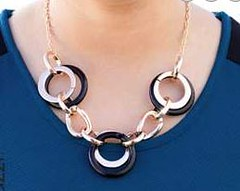 5th Avenue Black Necklace K3 P2130-4