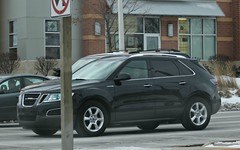 Saab 9-4X (SPV Automotive) Tags: black car suv saab 94x