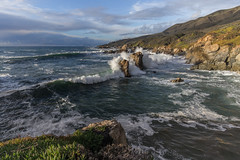 Garrapata State Park (Tn) Tags: california seascape beach clouds landscape coast waves carmel montereycounty garrapatastatepark carmelhighlands