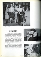 Hazing (Hunter College Archives) Tags: students events yearbook social event hunter 1956 freshman hazing frosh activities studentcouncil huntercollege socialevents studentactivities froshies wistarion studentlifestyles thewistarion
