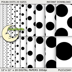 00100-black_and_white_polka_dots-StripeDotMePreview0 (stripedotme) Tags: white black digital giant scrapbooking paper many background polka tiny dots sizes printable stripedotme