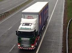 H2070 - PE64 EUR (Cammies Transport Photography) Tags: eve truck lorry eddie eur kasey flyover scania esl m74 2xl lockerbie stobart eddiestobart r450 h2070 pe64 pe64eur