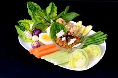 ตัวอย่างภาพอาหารไทย แบบฉากหลังดำ สะดวกในการไดคัททำเมนูอาหาร