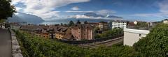 Lake Geneva, Montreux (Oleg.A) Tags: panorama landscape switzerland landscapes lakegeneva montreux vaud