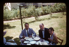 ms 1943-54 AB-135 (ndpa / s. lundeen, archivist) Tags: wedding people food woman man color men film guests yard 35mm table suits eating nick tie bowtie 1954 slide suit reception 1950s kodachrome clothesline youngwoman weddingreception 1953 dewolf weddingguests foldingchairs nickdewolf photographbynickdewolf ellisonwedding locationunidentified hankellisonwedding