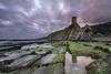 - El vigía del estrecho - (Mar Diaz -korama-) Tags: longexposure seascape marina atardecer rocks nubes rocas tarifa largaexposición guadalmesi lamanoamiga d7000 mardíazkorama