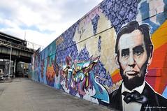 Abraham Lincoln Graffiti Slayer (Trish Mayo) Tags: streetart art graffiti mural urbanart lincoln abrahamlincoln bushwick thebestofday gününeniyisi