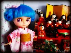 Hina Matsuri (Heike Andrea Grote ) Tags: dylan cute japan zoe doll kawaii poppy kimono pullip blythe takara licca monchhichi hinamatsuri kimekomi bluebelle basaak heikeandreagrote