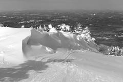 Straight Down (Steve Bosselman) Tags: winter snow monochrome skiing newengland newhampshire cannonmountain