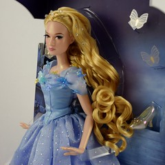 2015 Blue Gown Cinderella Limited Edition 17'' Doll - Disney Store Purchase - Deboxing - Attached to Backing - Midrange Right Front View (drj1828) Tags: uk blue ball doll royal cinderella gown purchase limitededition disneystore 17inch 2015 deboxing liveactionfilm le4000 disneyfilmcollection