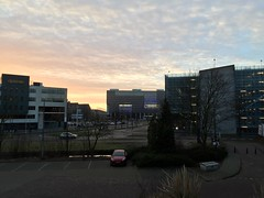 Donderdag 5 maart 2015 (1.022) (gill4kleuren - 12 ml views) Tags: goodmorning good morning goede morgen goedemorgen clouds sky picture every day tree buildings work workplace shoot lente spring winter zomer summer herfst autum nederland leiden sunset rain wolken