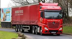 Mercedes actros 6x2 MurrayHogg NA14WFM Frank Hilton 05032015 061 (Frank Hilton.) Tags: pictures classic truck frank photos transport hilton lorry trucks