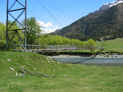 Rickety Swing Bridge in West Matukituki Valley