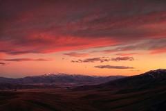 Maniototo New Zealand (mpp26) Tags: morning winter sky mountain sunrise landscape early frost hills snowcapped summit centralotago maniototo littlemountida