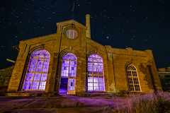 Cathedral of Industry (Luminophor) Tags: longexposure nightphotography lightpainting abandoned night stars purple australia arches newsouthwales