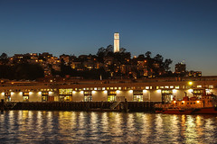 Coit Tower dusk from Pier 7 (tree007) Tags: sanfrancisco california coittower