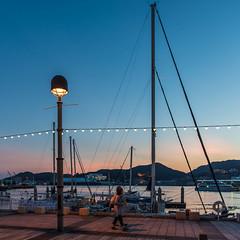 Harbor 2 (kmmanaka) Tags: japan nagasaki evening harbor tram dejima meganebashi scooter