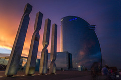 Hotel W (Carra.Dfgdef) Tags: canon eos 7d canoneos7d canon7d tokina atx pro dx 124 1224mm f4 tokinaatxprodx1224mmf4 vanguard altapro spain spagna barcelona catalunya barceloneta playa beach sea hotel w hotelvela hotelw sunset landscape cityscape clouds longexposure ndfilter nd1000 nd30 10stops