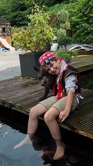 DSCF2285 (ronaldzijlstra2) Tags: kid son boy dog cairnterrier koi vis vish vijver pond
