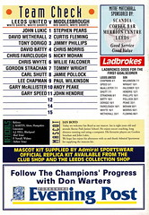 Leeds United vs Middlesbrough - 1993 - Back Cover Page (The Sky Strikers) Tags: road magazine one official united leeds admiral middlesbrough premier pound league fa fifty elland matchday