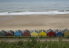 silent Tuesday (Stewart485) Tags: sea england beach norfolk structures lifestyle places things beachhuts impression evocative architectureandbuildings vaguelyarty