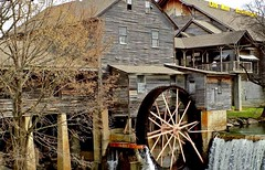 The Old Mill Cafe .... (~ Cindy~) Tags: pigeonforge tn gristmill oldmillcafe waterwheel tennessee archived redone shot