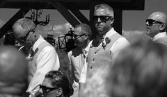 The groom and his bodyguards (CamSummers) Tags: wedding blackandwhite bw monochrome portrait sunglasses eos7dmarkii people cermony groom